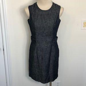 Nautica sleeveless denim sheath dress